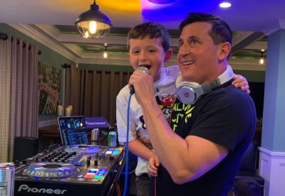 DJ with child